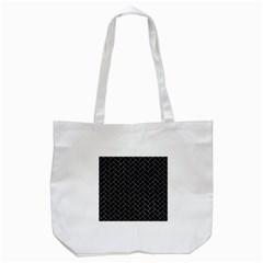 Brick2 Black Marble & Gray Marble Tote Bag (white) by trendistuff