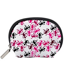 Lizards Pattern   Magenta Accessory Pouches (small)  by Valentinaart