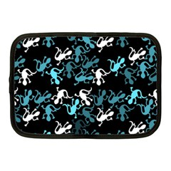 Cyan Lizards Pattern Netbook Case (medium)  by Valentinaart