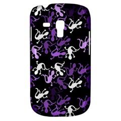 Purple Lizards Pattern Galaxy S3 Mini by Valentinaart