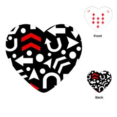 Right Direction   Red Playing Cards (heart)  by Valentinaart