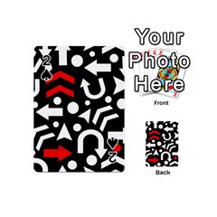 Right Direction   Red Playing Cards 54 (mini)  by Valentinaart
