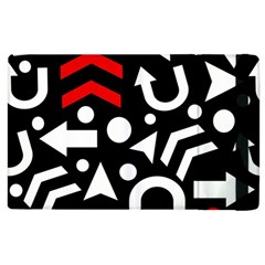 Right Direction   Red Apple Ipad 3/4 Flip Case by Valentinaart