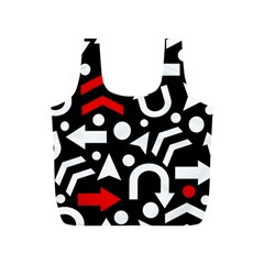 Right Direction   Red Full Print Recycle Bags (s)  by Valentinaart