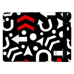 Right Direction   Red Samsung Galaxy Tab Pro 12 2  Flip Case by Valentinaart