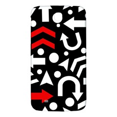 Right Direction   Red Samsung Galaxy Mega I9200 Hardshell Back Case by Valentinaart