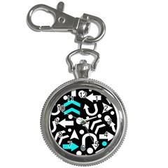 Right direction - cyan Key Chain Watches by Valentinaart