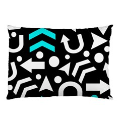 Right Direction   Cyan Pillow Case by Valentinaart