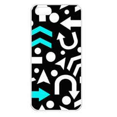 Right Direction   Cyan Apple Iphone 5 Seamless Case (white) by Valentinaart