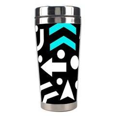 Right Direction   Cyan Stainless Steel Travel Tumblers by Valentinaart