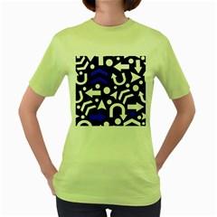 Right Direction   Blue  Women s Green T Shirt