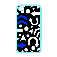 Right Direction   Blue  Apple Iphone 4 Case (color) by Valentinaart