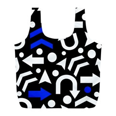 Right Direction   Blue  Full Print Recycle Bags (l)  by Valentinaart