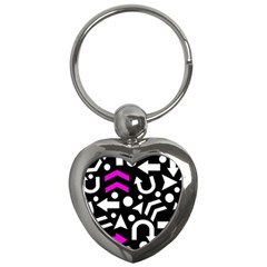 Right Direction   Magenta Key Chains (heart)  by Valentinaart
