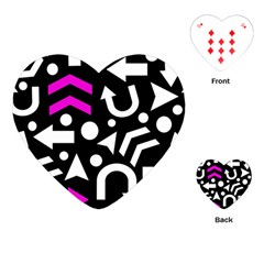 Right Direction   Magenta Playing Cards (heart)  by Valentinaart