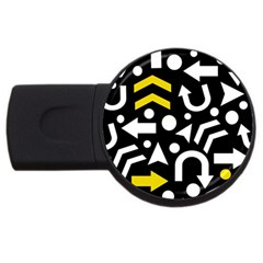 Right Direction   Yellow Usb Flash Drive Round (2 Gb)  by Valentinaart