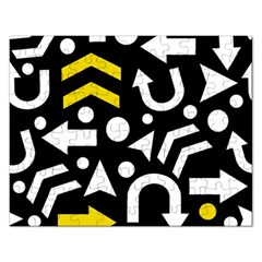 Right Direction   Yellow Rectangular Jigsaw Puzzl by Valentinaart