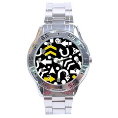 Right Direction   Yellow Stainless Steel Analogue Watch by Valentinaart