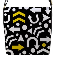 Right Direction   Yellow Flap Messenger Bag (s) by Valentinaart