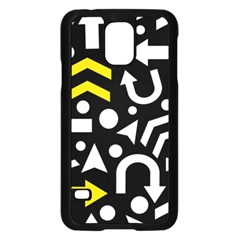 Right Direction   Yellow Samsung Galaxy S5 Case (black) by Valentinaart
