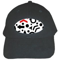 Red Right Direction Black Cap