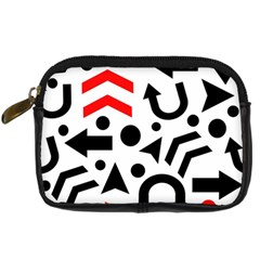 Red Right Direction Digital Camera Cases by Valentinaart