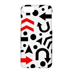 Red Right Direction Apple Iphone 7 Hardshell Case by Valentinaart