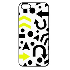 Yellow Right Direction  Apple Iphone 5 Seamless Case (black) by Valentinaart