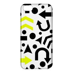 Yellow Right Direction  Apple Iphone 5c Hardshell Case by Valentinaart