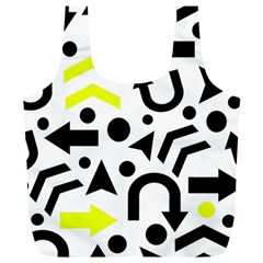 Yellow Right Direction  Full Print Recycle Bags (l)  by Valentinaart