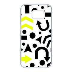 Yellow Right Direction  Samsung Galaxy S7 Edge White Seamless Case