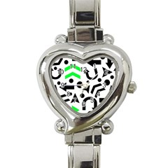 Green Right Direction  Heart Italian Charm Watch by Valentinaart