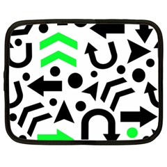 Green Right Direction  Netbook Case (xl)  by Valentinaart