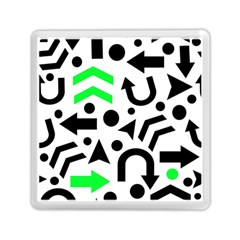 Green Right Direction  Memory Card Reader (square)  by Valentinaart