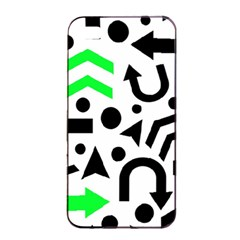 Green Right Direction  Apple Iphone 4/4s Seamless Case (black) by Valentinaart