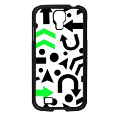 Green Right Direction  Samsung Galaxy S4 I9500/ I9505 Case (black) by Valentinaart