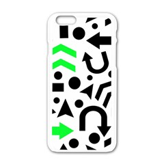 Green Right Direction  Apple Iphone 6/6s White Enamel Case by Valentinaart
