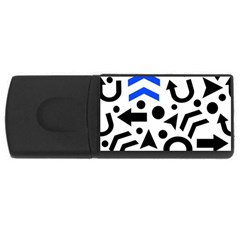 Blue Right Direction Usb Flash Drive Rectangular (4 Gb)  by Valentinaart