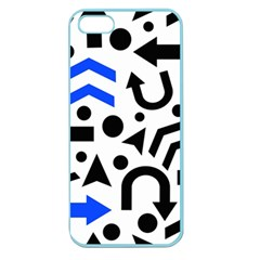 Blue Right Direction Apple Seamless Iphone 5 Case (color) by Valentinaart