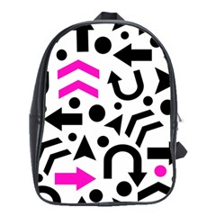 Magenta Right Direction School Bags(large)  by Valentinaart