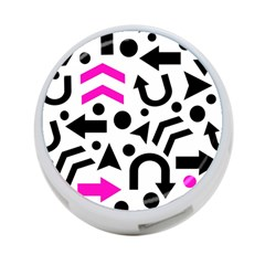 Magenta Right Direction 4 Port Usb Hub (two Sides)  by Valentinaart