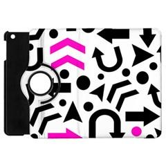 Magenta Right Direction Apple Ipad Mini Flip 360 Case by Valentinaart