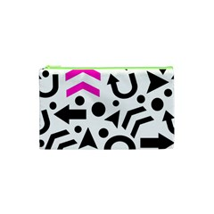 Magenta Right Direction Cosmetic Bag (xs) by Valentinaart