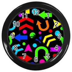 Right Direction   Colorful Wall Clocks (black) by Valentinaart
