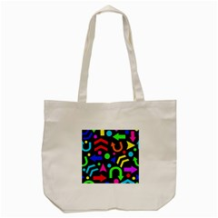 Right Direction   Colorful Tote Bag (cream) by Valentinaart
