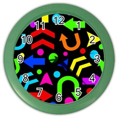Right Direction   Colorful Color Wall Clocks by Valentinaart