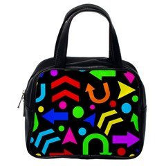 Right Direction   Colorful Classic Handbags (one Side) by Valentinaart