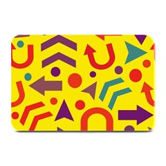 Yellow Direction Plate Mats by Valentinaart
