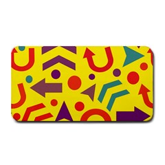 Yellow Direction Medium Bar Mats by Valentinaart