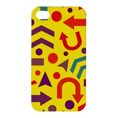 Yellow Direction Apple Iphone 4/4s Premium Hardshell Case by Valentinaart